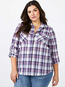 d/c JEANS - Cotton Plaid Shirt