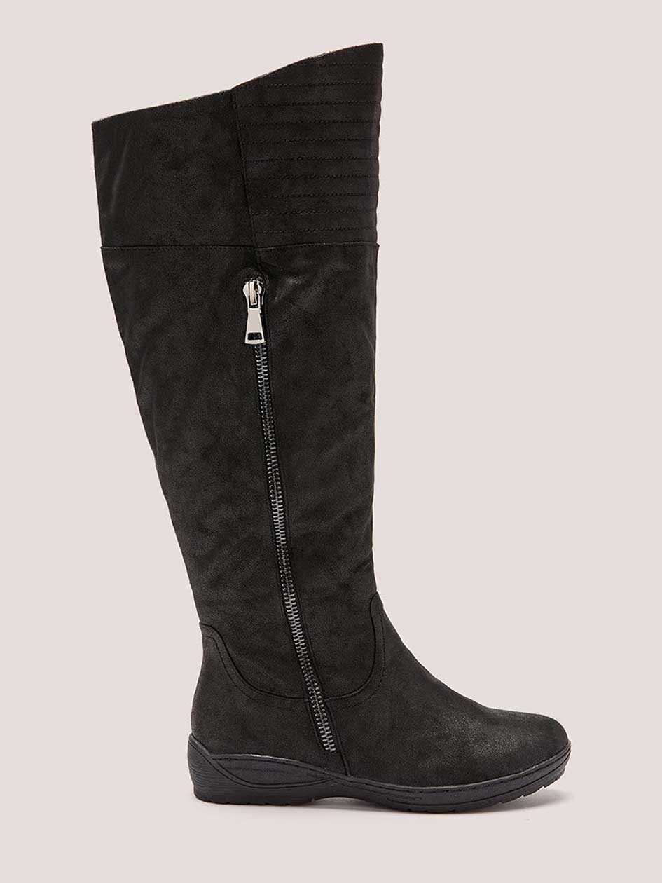 Extra Wide Calf Tall Faux-Suede Boots