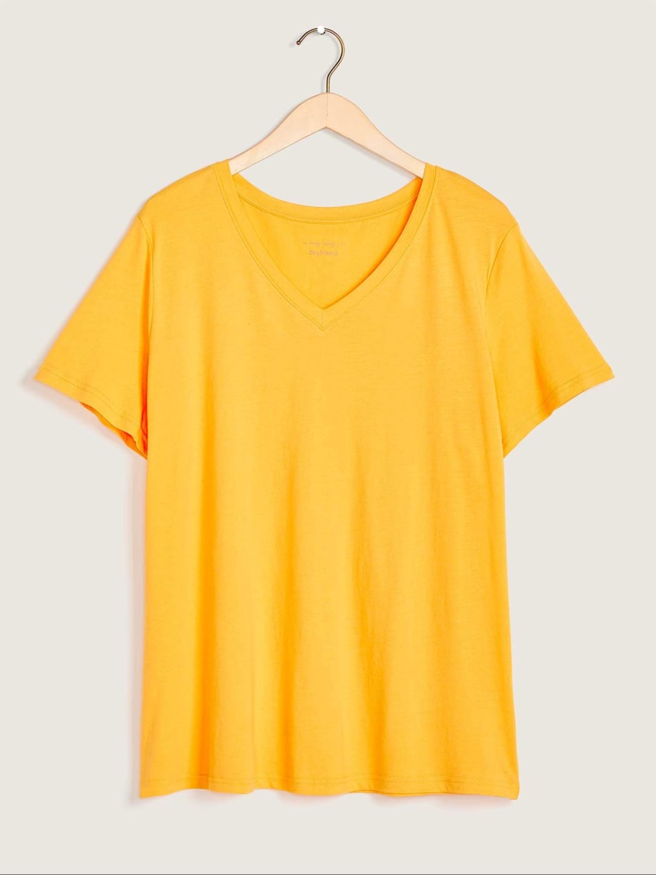 Boyfriend Fit V-Neck T-Shirt - In Every Story