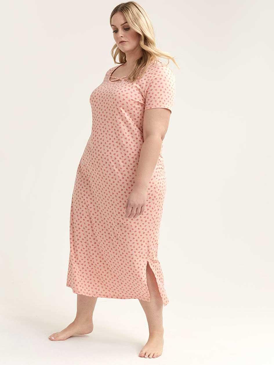 Printed Long Pyjama Sleepshirt - ti Voglio 5c28df3ff