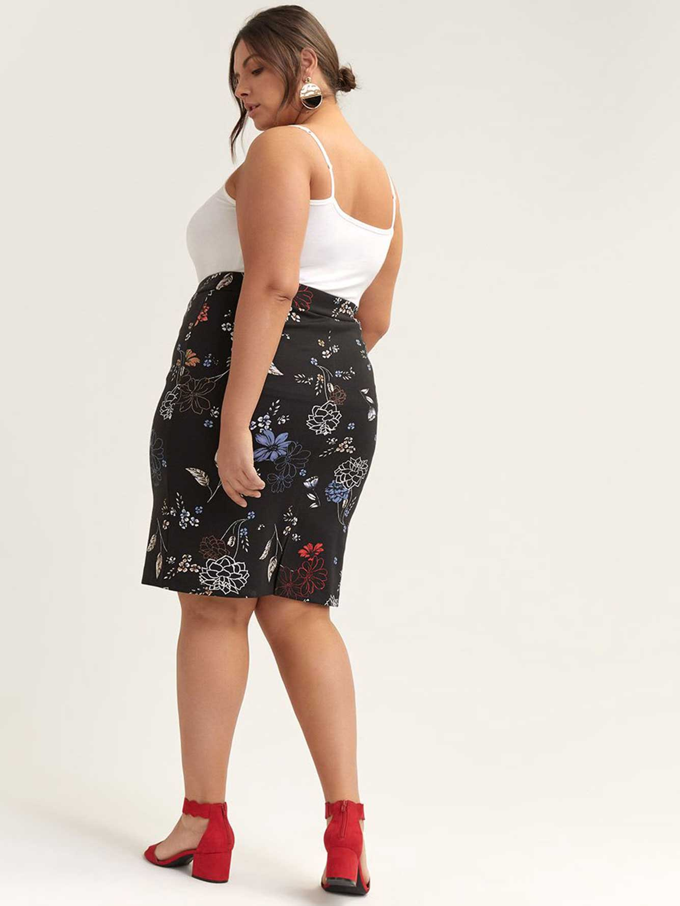 Printed Ponte de Roma Pencil Skirt - In Every Story