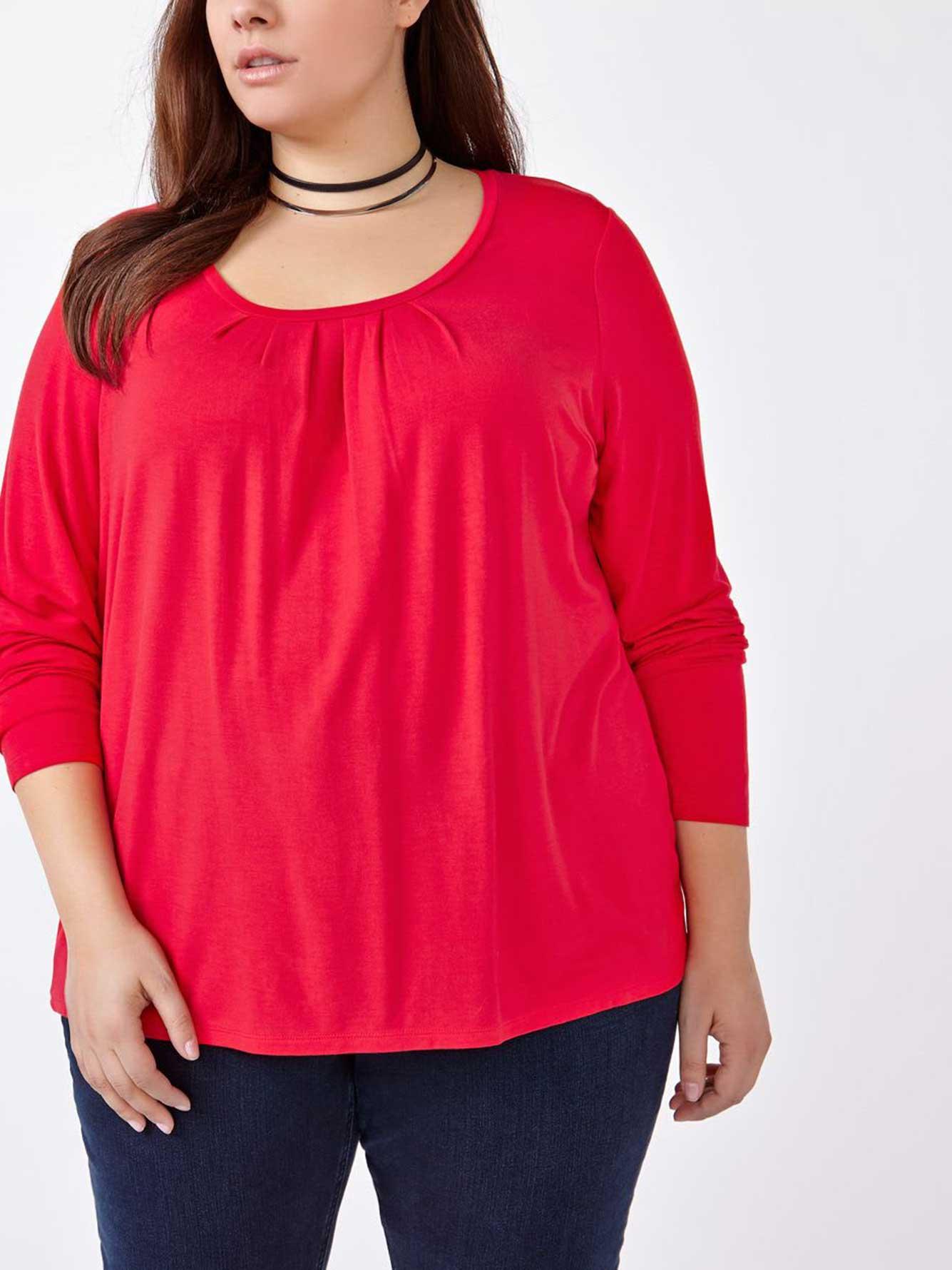 9504b3b390af Relaxed Fit Long Sleeve T-Shirt | Penningtons