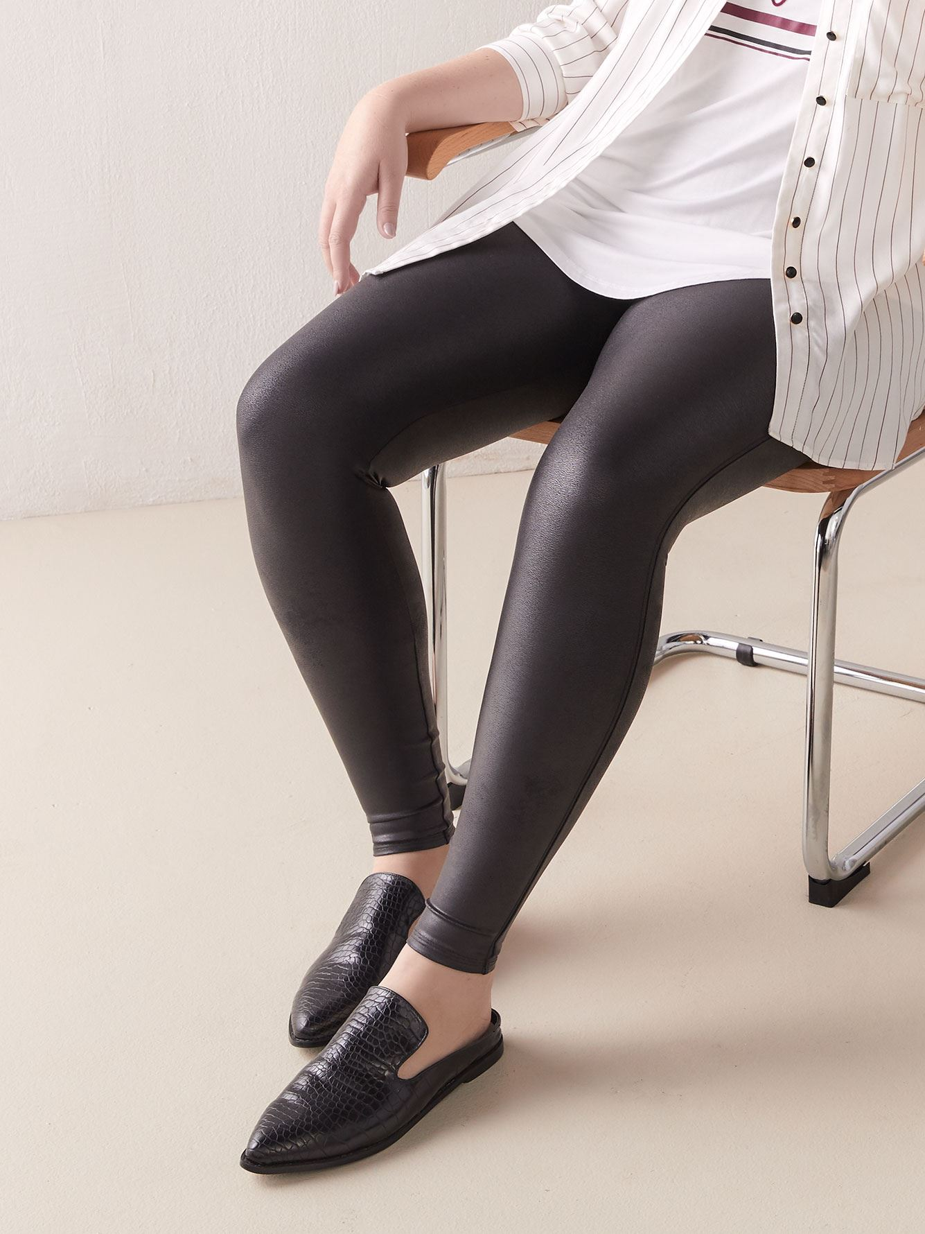 PETITE Faux Leather Leggings - Spanx