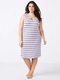 Striped Sleep Chemise - ti Voglio