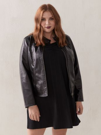 Short Faux-Leather Biker Jacket - Love & Legend