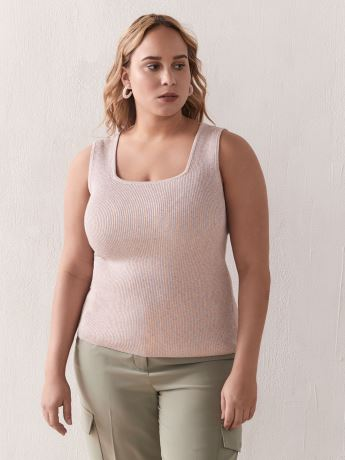Square-Neck Sweater Tank-Top - Addition Elle