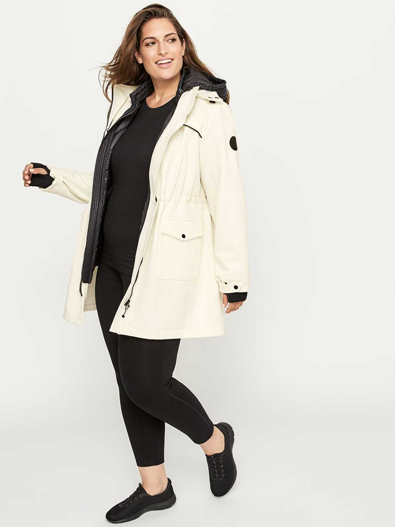 Long Plus-Size Soft Shell Jacket - ActiveZone