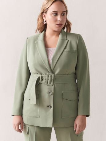 Belted Utility Jacket - Addition Elle