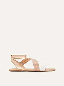 Wide Multi-Strap Asymmetrical Flat Sandals