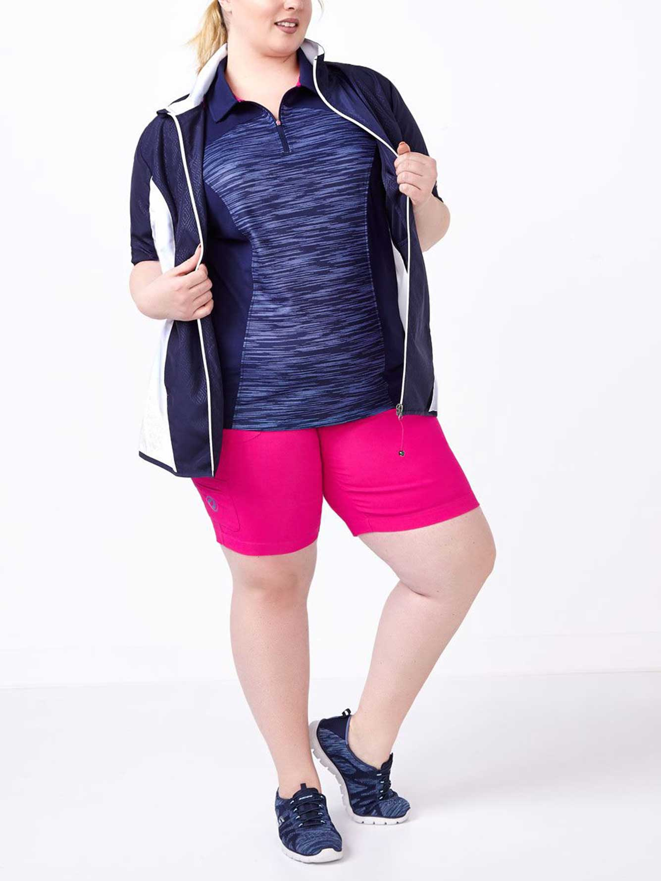 2882ed348d3 Sports - Plus-Size Short Sleeve Golf Jacket