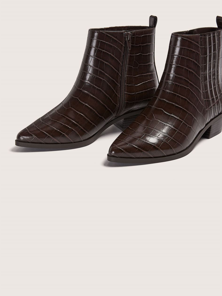 Wide Pointy Toe Western Bootie - Addition Elle