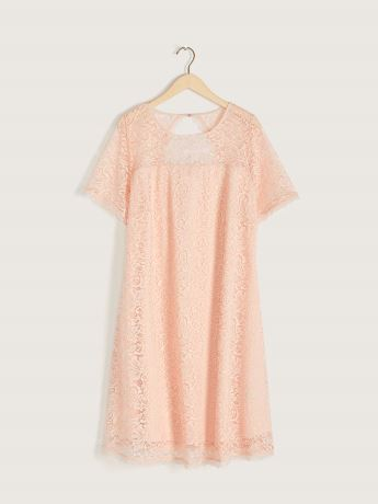 Short-Sleeve Lace Dress - In Every Story