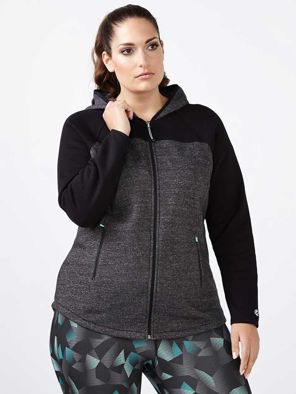 Essentials - Plus-Size Fleece Zip Up Hoodie
