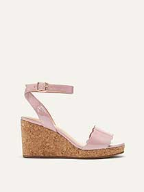 Wide Peep Toe Wedge Sandals