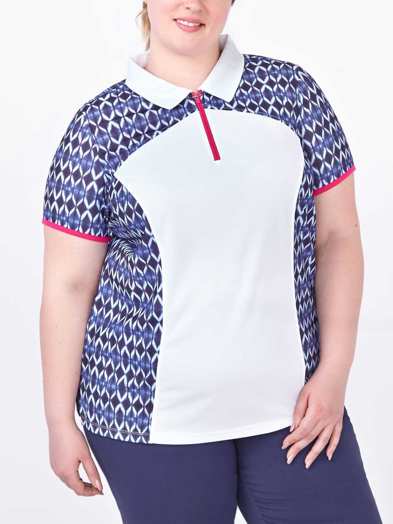 Sports Plus Size Printed Golf Polo Shirt Penningtons
