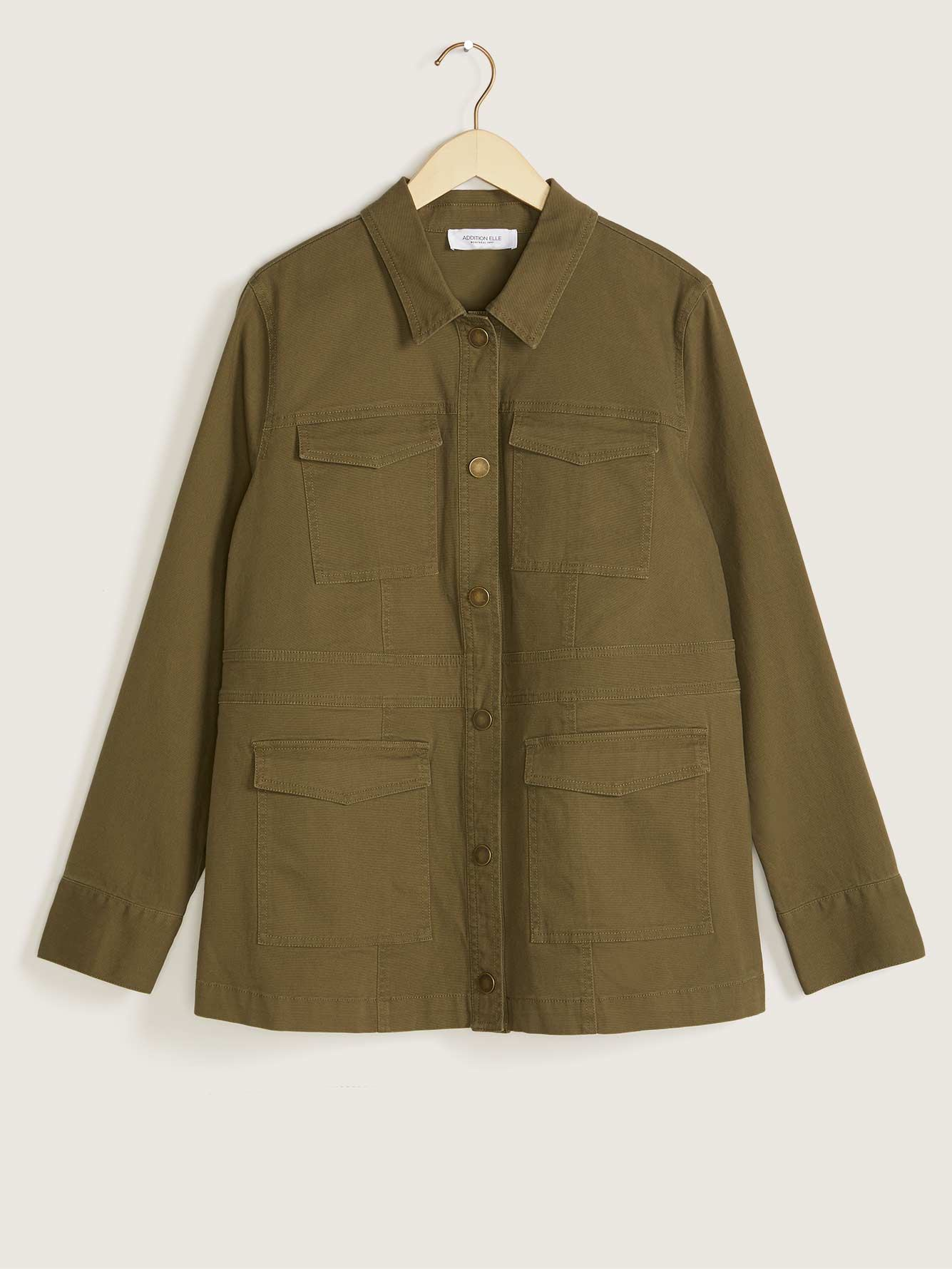 Solid Safari Jacket - Addition Elle