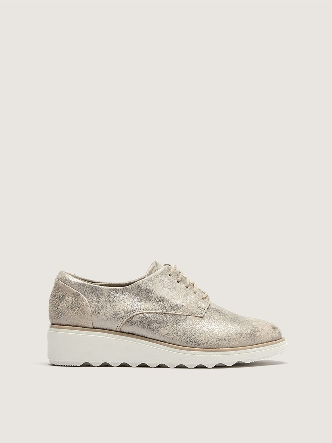 Wide Sharon Crystal Lace Up Shoes - Clarks