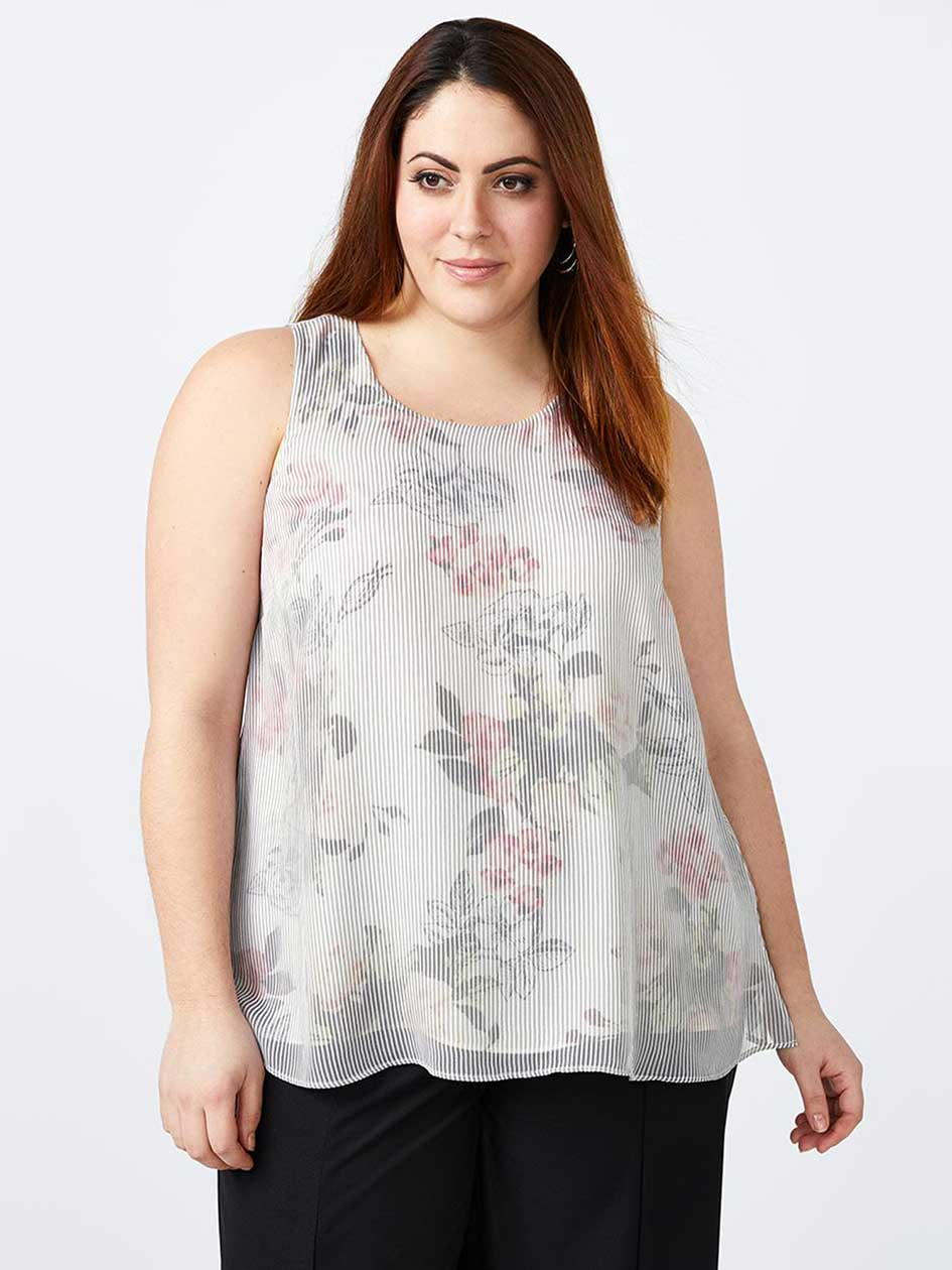 Sleeveless Printed Blouse - In Every Story