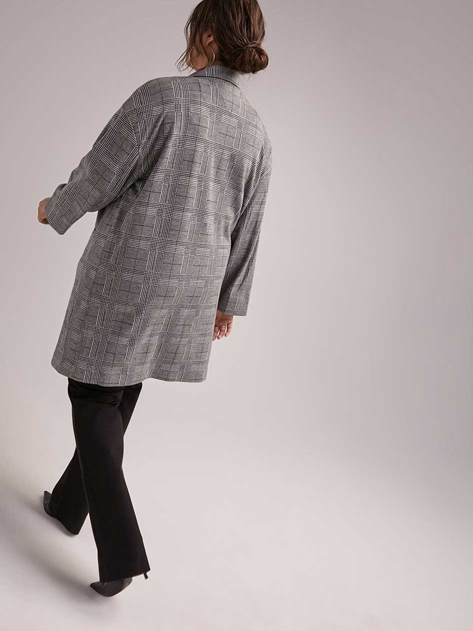 Long Glen Check Jacket - In Every Story