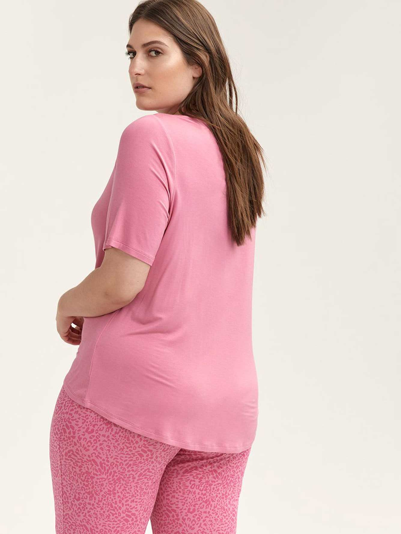 Printed Elbow Sleeve Pyjama T-Shirt - ti Voglio