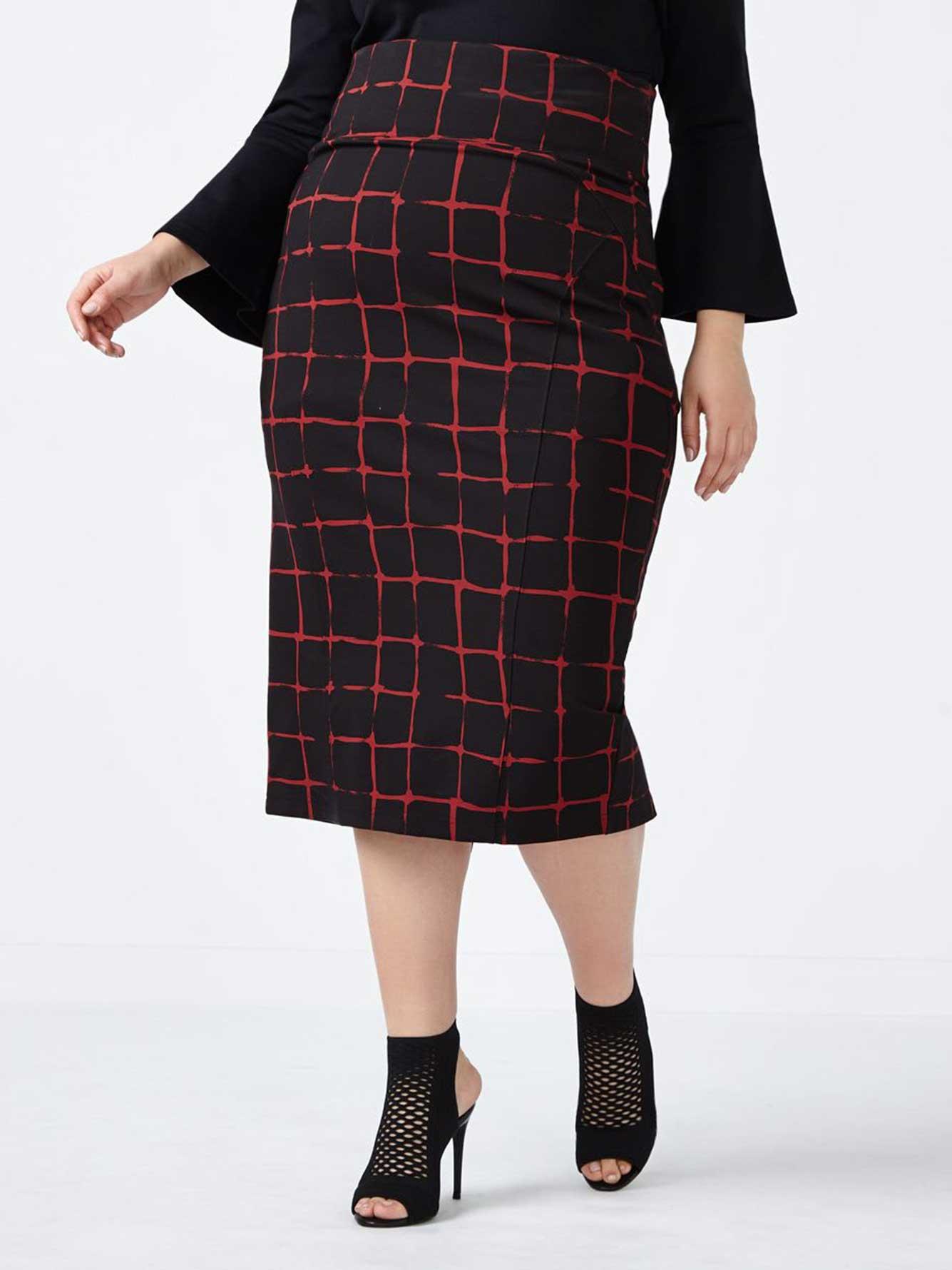 b6bc1ed005 Printed Pencil Skirt - MELISSA McCARTHY | Penningtons