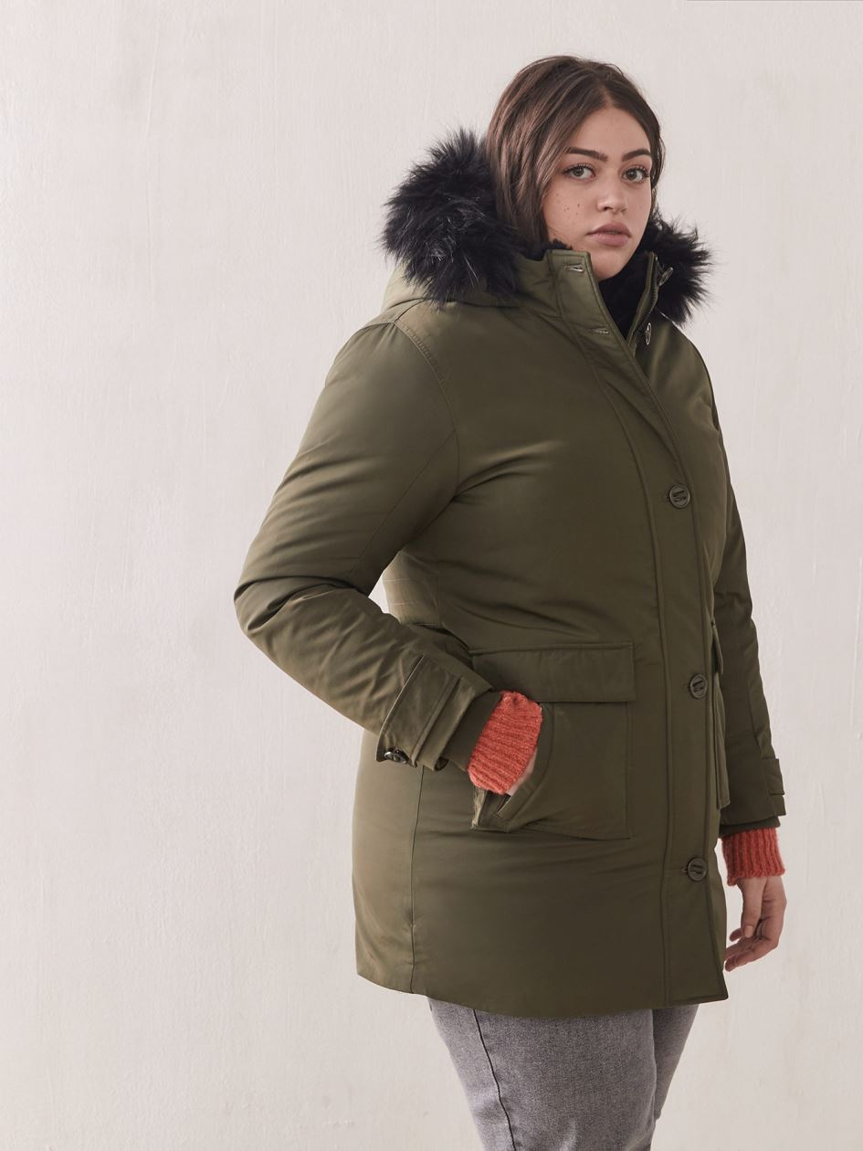 Hooded Down Parka - Addition Elle
