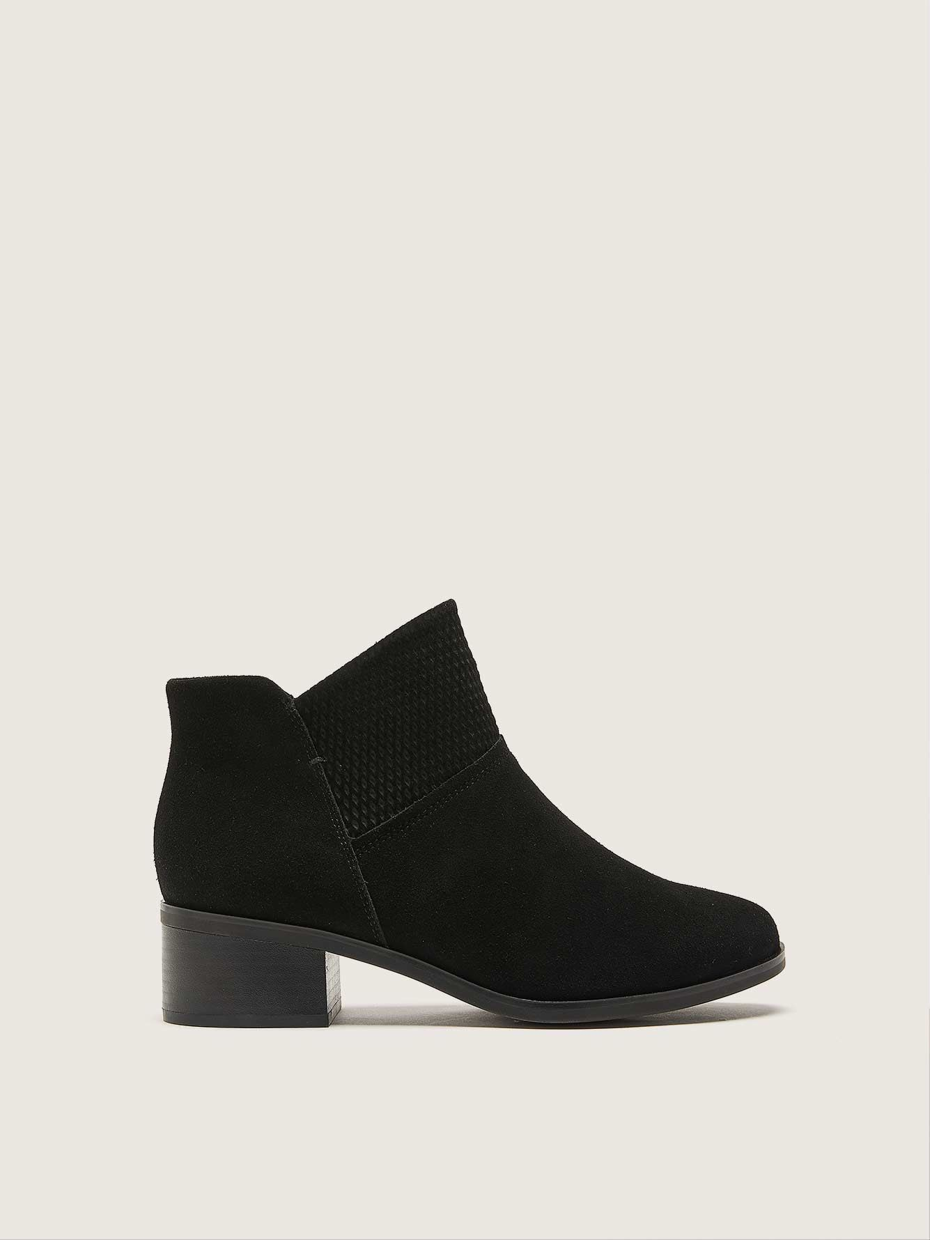 Wide Suede Ankle Bootie - Addition Elle