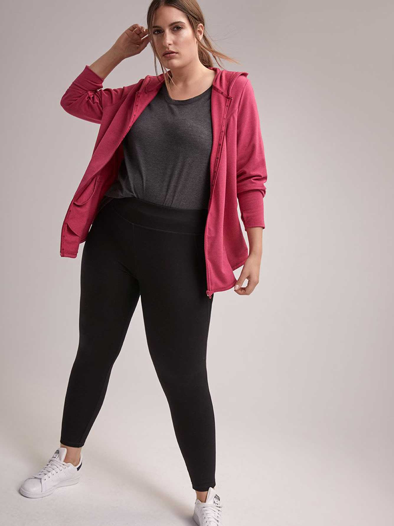 8adeef381e5c6 Petite Plus-Size Basic Legging - ActiveZone | Penningtons