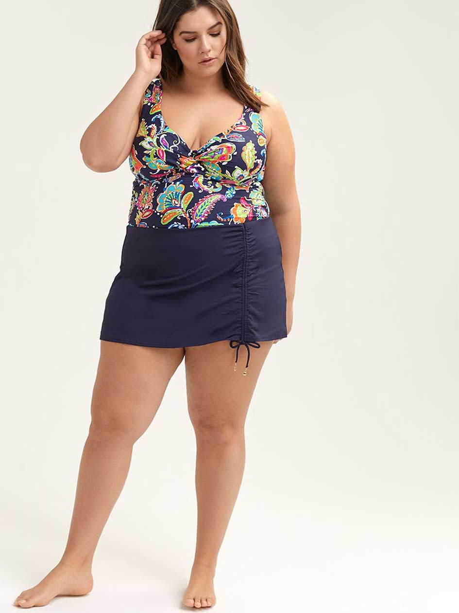 Printed Twist Tankini Top - Anne Cole