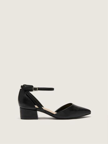 Wide-Width Block Heel Shoe With Ankle Strap - Addition Elle
