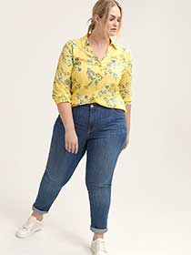 Printed Blouse with Criss-Cross at Back - d/C JEANS
