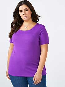 Curve Fit Basic Scoop Neck T-Shirt - d/c JEANS