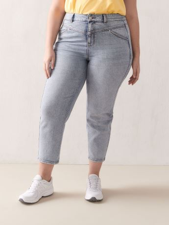 High-Rise Double Yoke Jean - Addition Elle