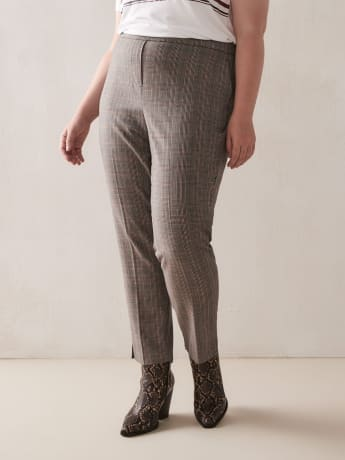 Plaid Tapered Pants - Addition Elle