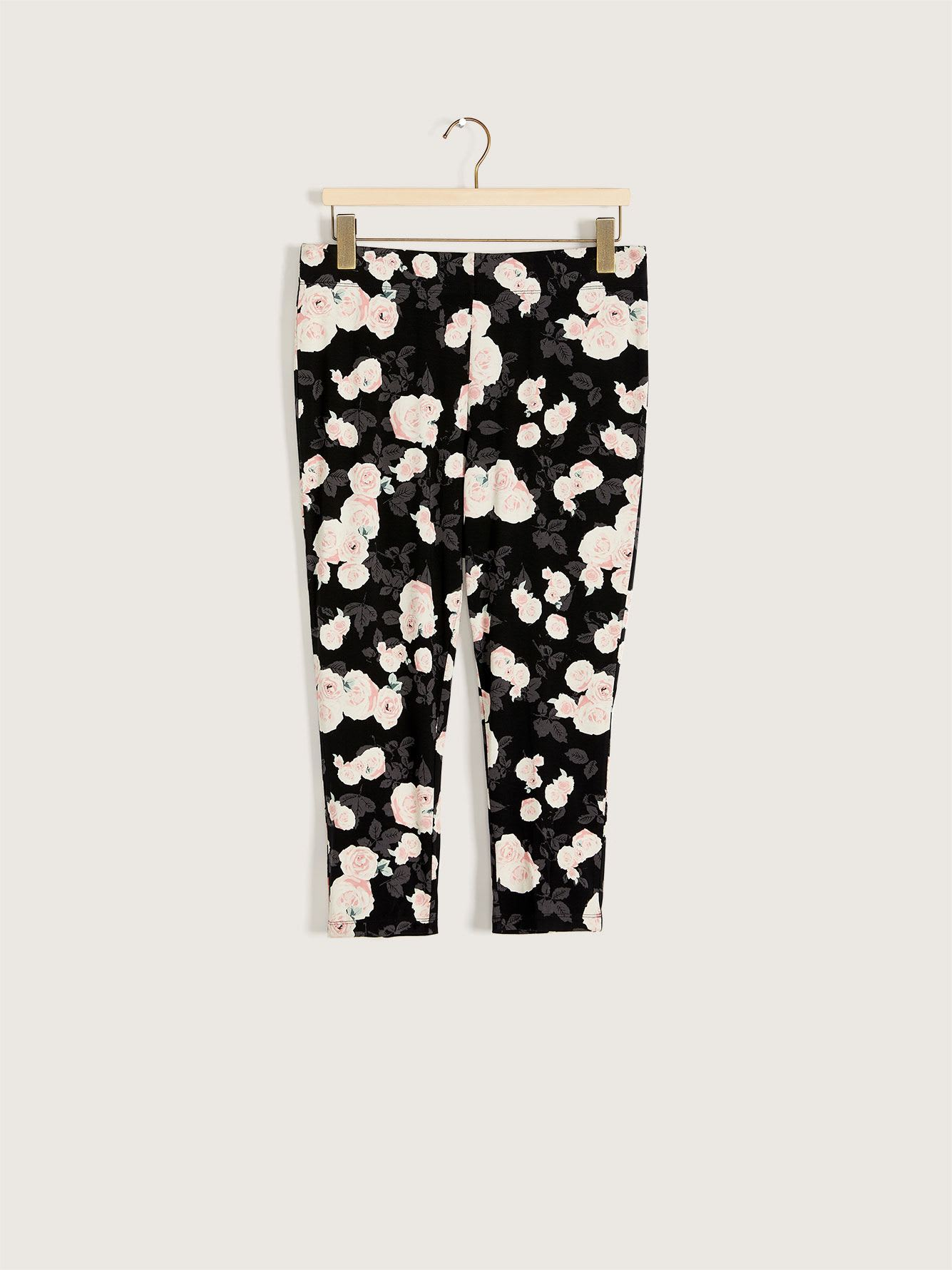 Floral Print Capri Legging - Addition Elle