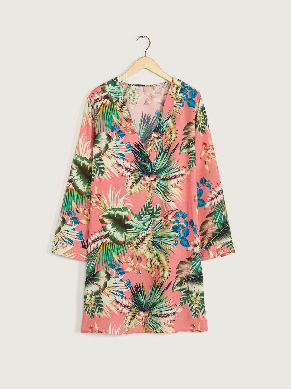 Tropical Rain Beach Cover-Up Tunic - La Blanca