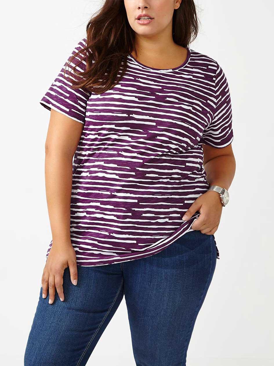 Curve Fit Printed Cotton T-Shirt