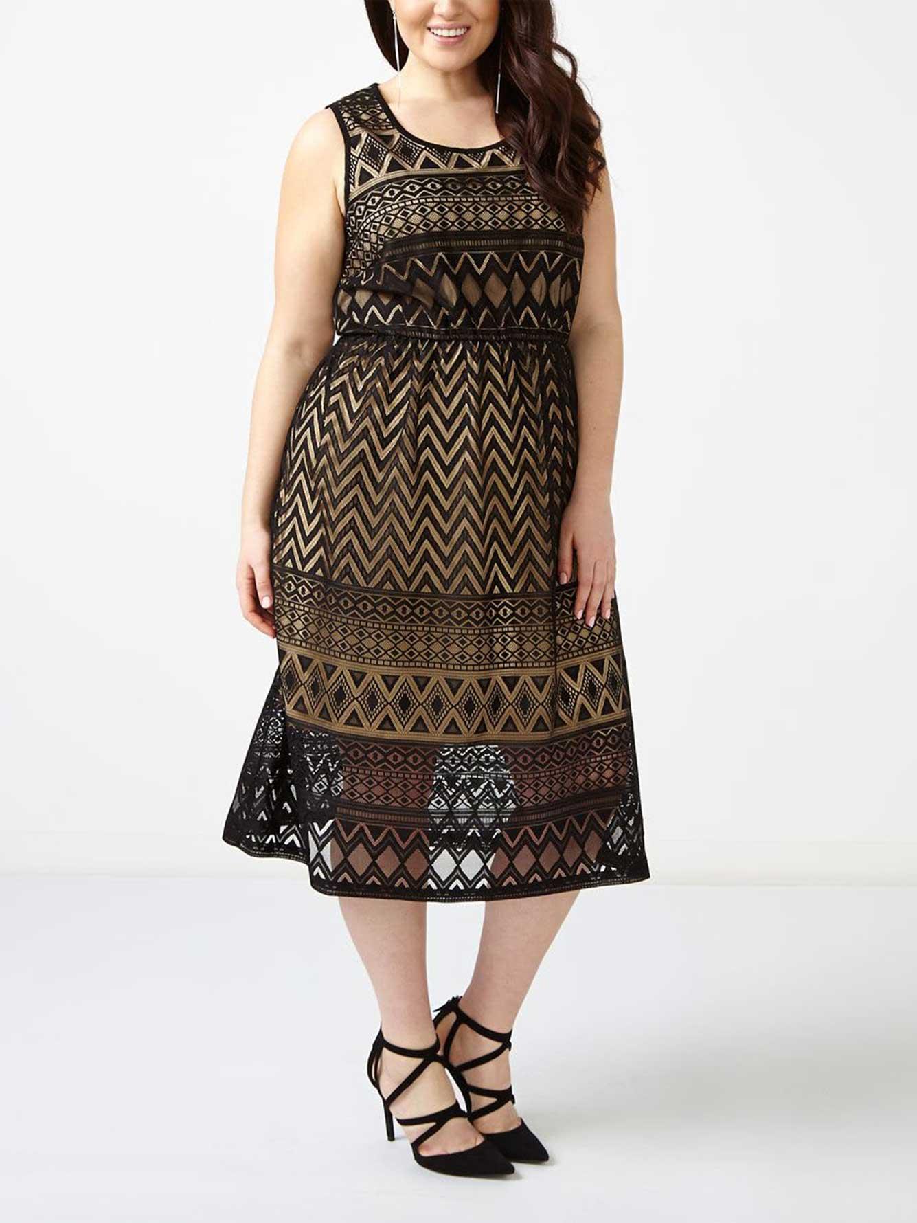 sleeveless lace dress penningtons