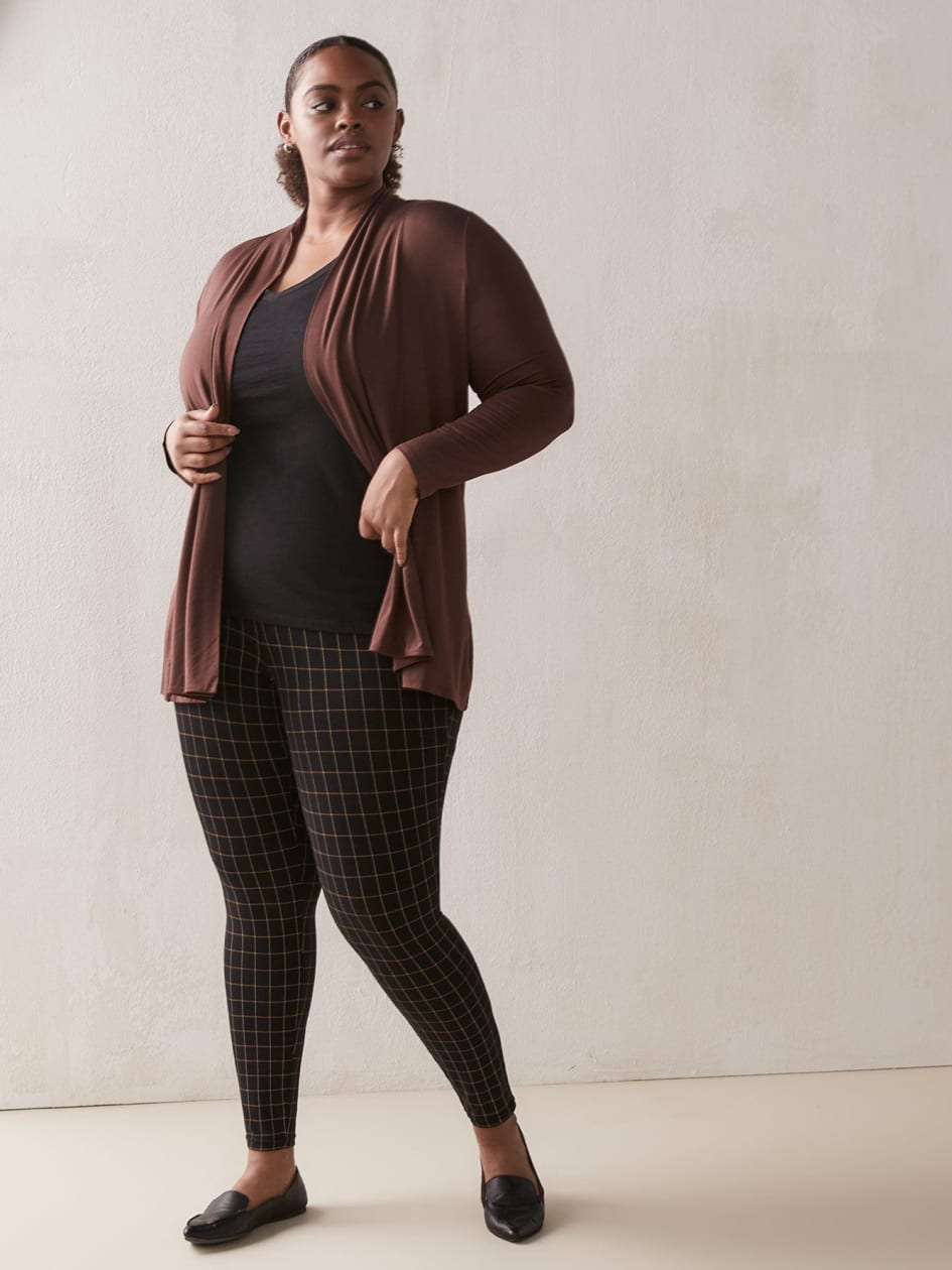 Black Windowpane Legging - Addition Elle