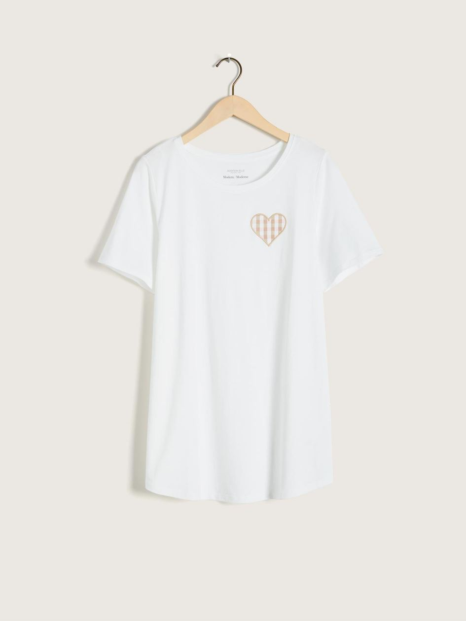 T-shirt moderne, coton et modal - Addition Elle