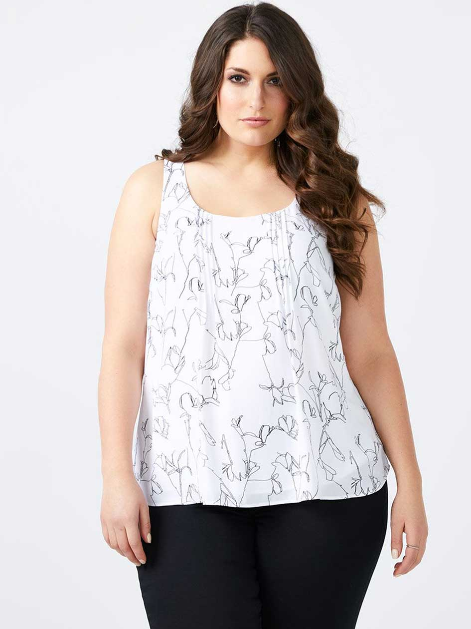 Cami Blouse with Pin Tuck - In Every Story