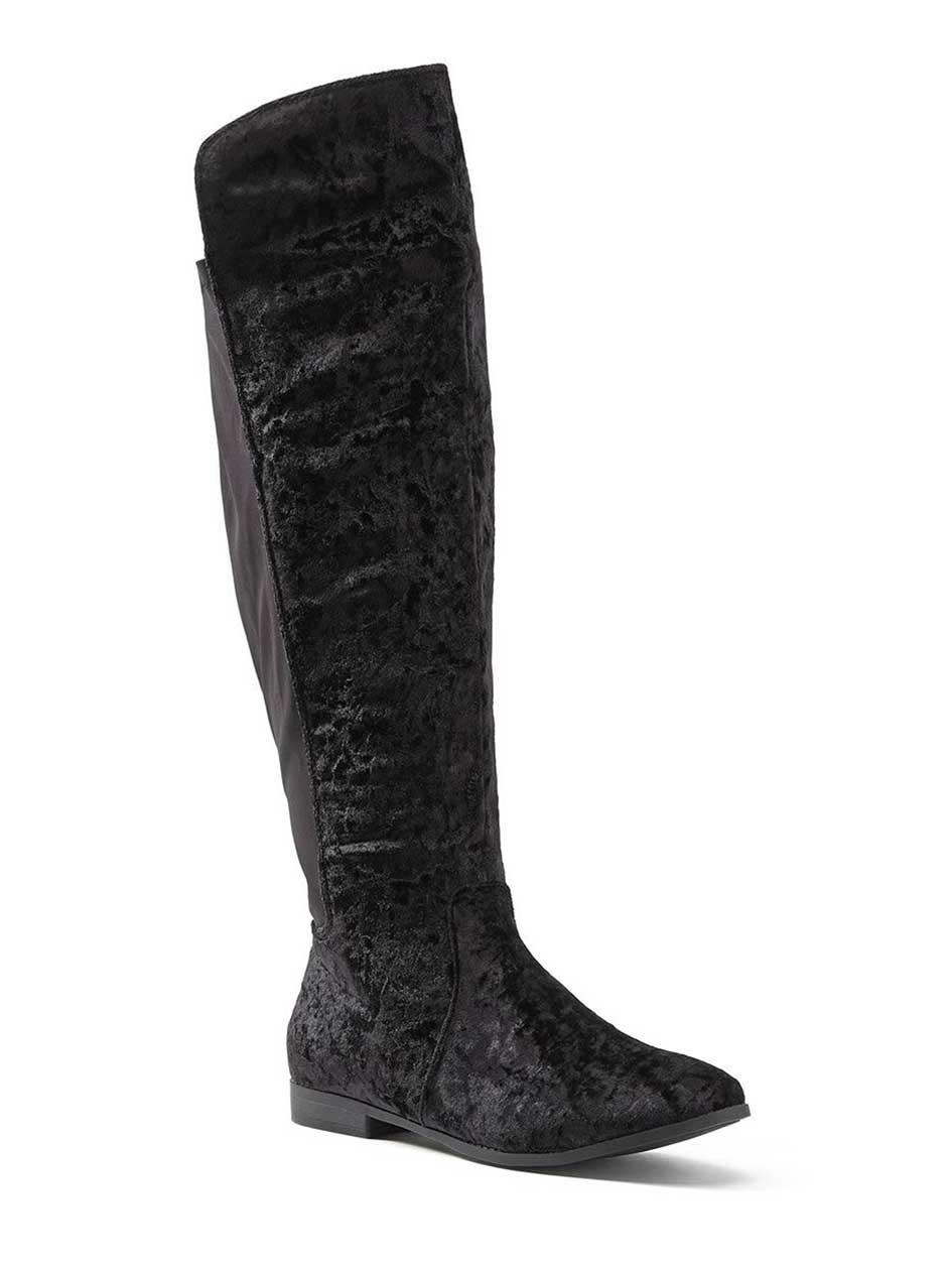 Wide Width Tall Velvet Boots