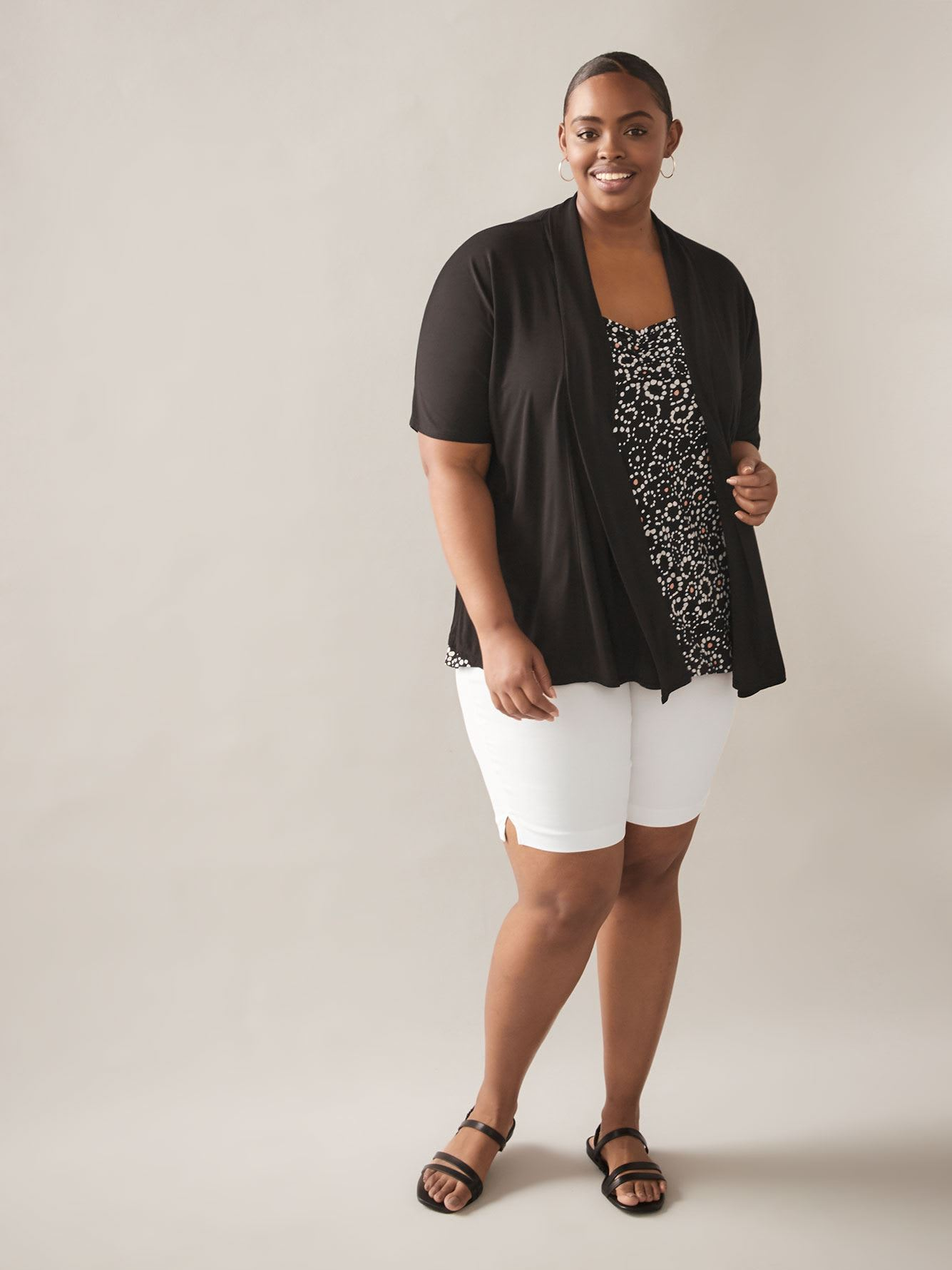 Open Short Dolman Sleeve Cardigan - In Every Story