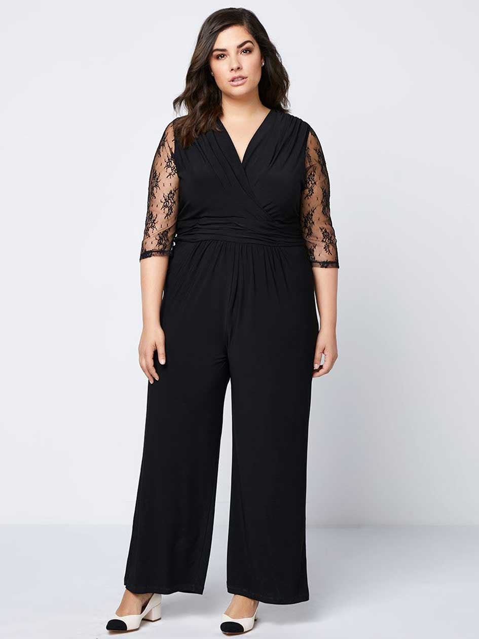 ONLINE ONLY - Jumpsuit with Lace Sleeves - In Every Story