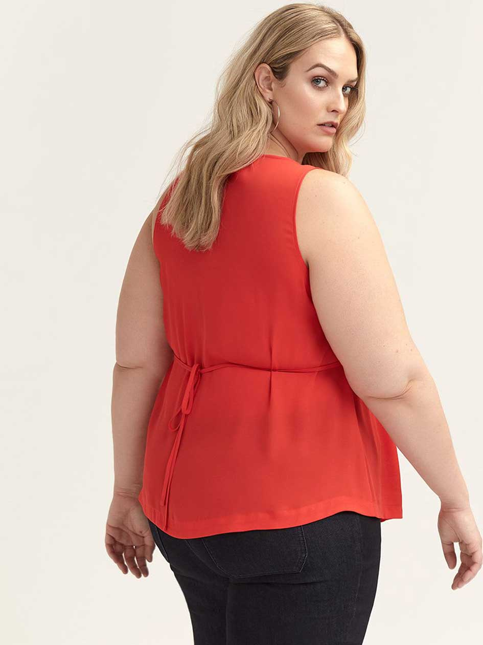 Sleeveless Blouse with Belt - In Every Story