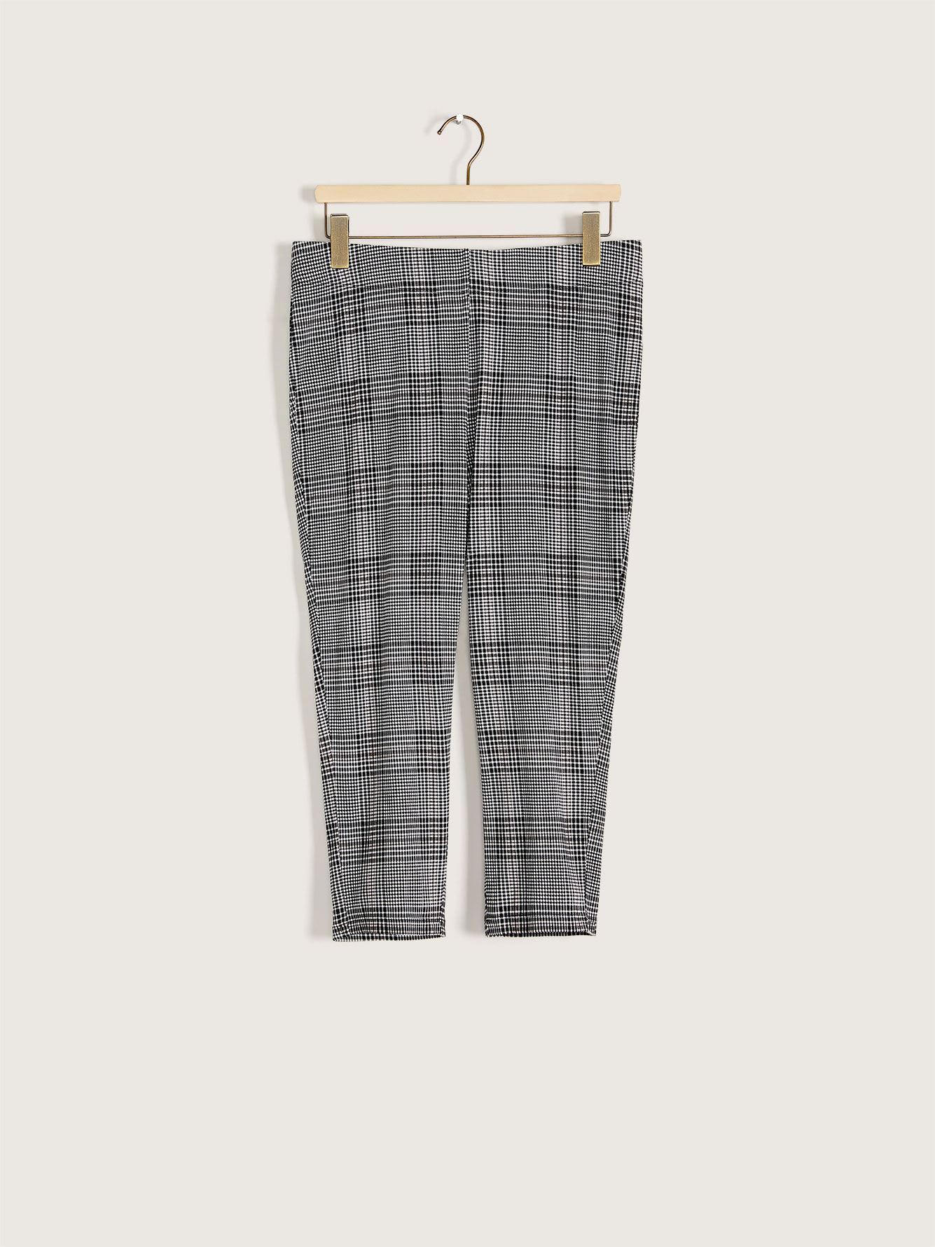 Plaid Print Capri Legging - Addition Elle