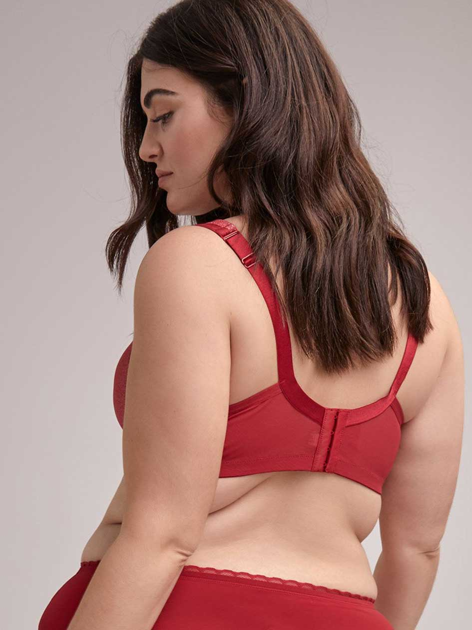Padded Wirefree Bra with Lurex Mesh and Lace, G & H Cups - ti Voglio