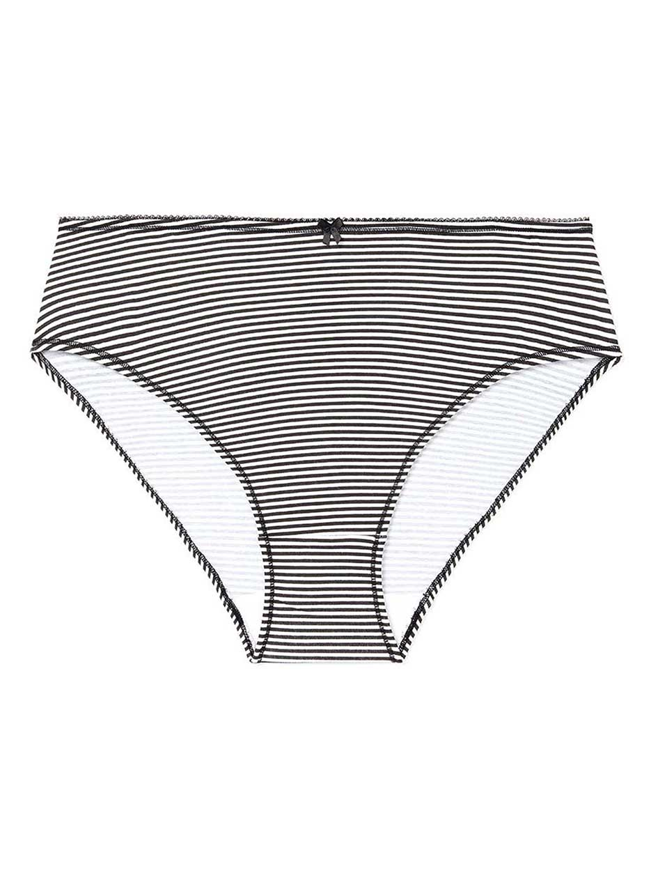 Printed Cotton High Cut Brief Panty - ti Voglio
