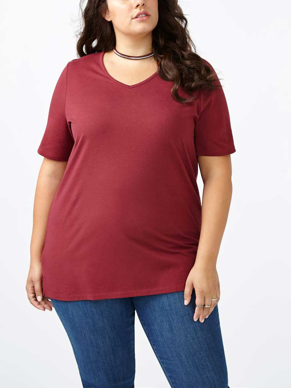 Girlfriend Fit V-Neck T-Shirt