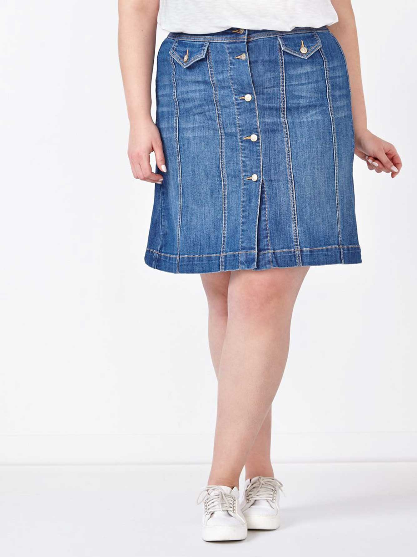 d/c JEANS Midi Denim Skirt